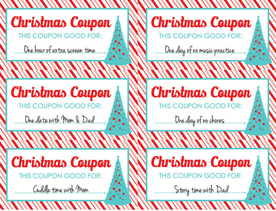 christmas coupons template free