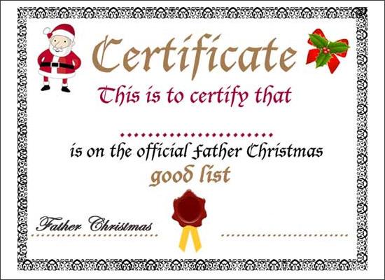 Santa Gift Certificate Template Romeondinez