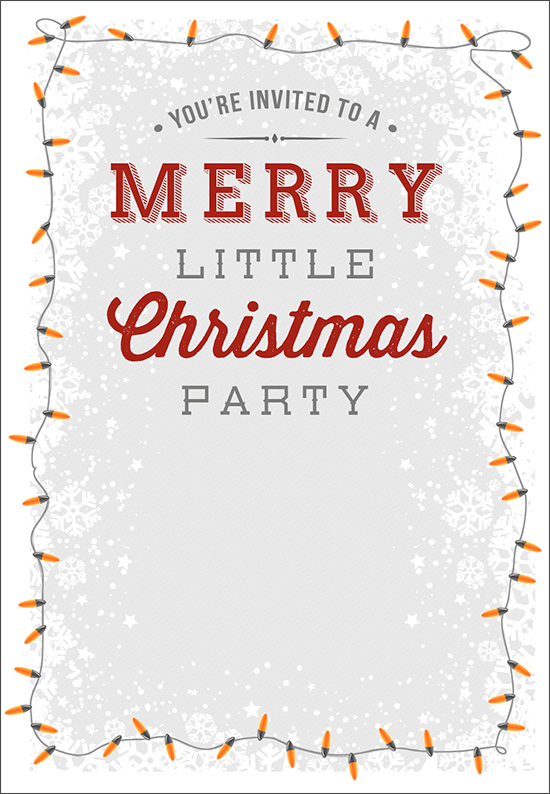 Christmas invitation templates sample templates for Free holiday invite templates