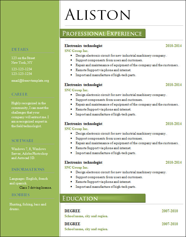 professional marketing resume - Marketing Professional Resume