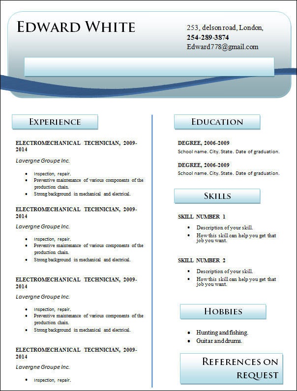 18 professional resume templates to download
