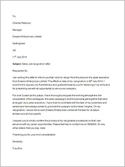 sales job resignation letter2