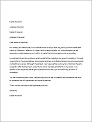 sample nursing resignation letter2