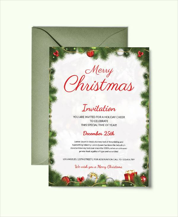 simple christmas party invitation template