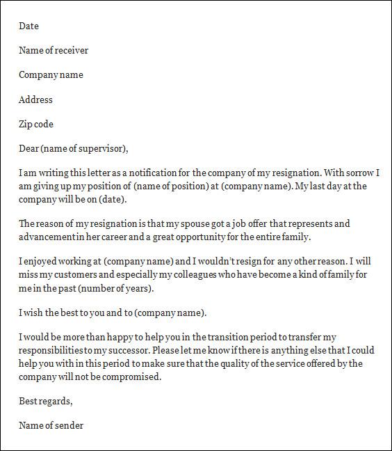 Resignation Letter Template, Free Resignation Letter Template