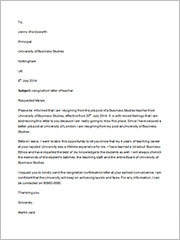 teacher resignation letter example2