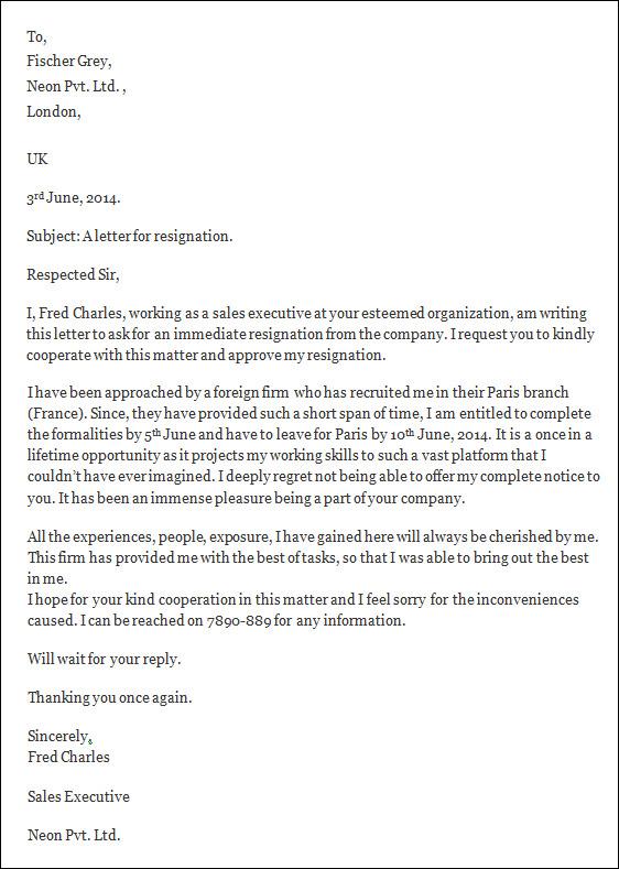 Teacher resignation letter template spiritdancerdesigns Gallery