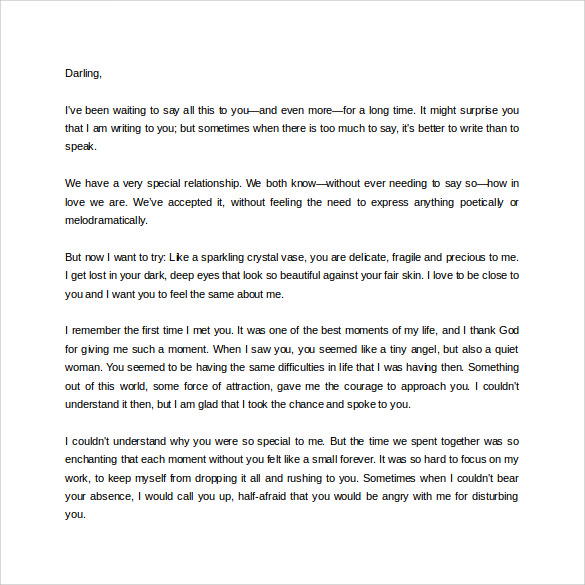 Sample Love Letter For Girlfriend   Free Documents In Word