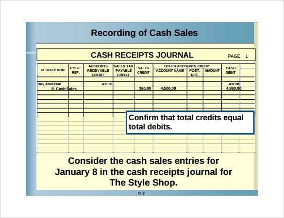 Sample Sales Receipt Template 9 Free Documents in Word PDF – Cash Sale Receipt