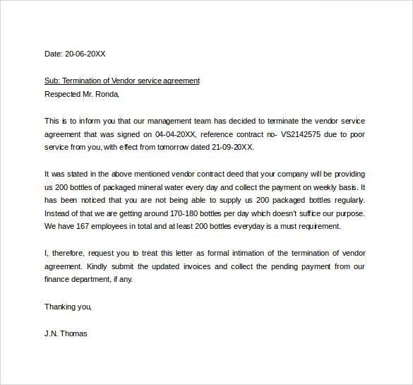 New letter format for vendor agreement spiritdancerdesigns Images