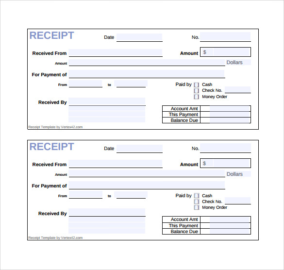 Sample Sales Receipt Template 9 Free Documents in Word PDF – Sales Receipt