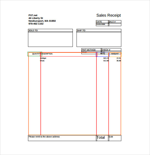 Sales Receipt Free Pdf Template Download  Purchase Receipt Template Free