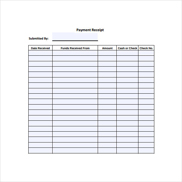 downloadble payment receipt template