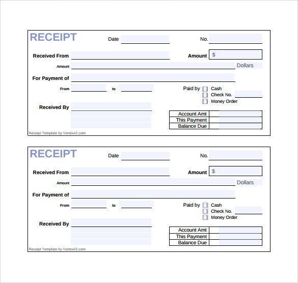 Sample Cash Receipt Template 21 Free Documents in PDF Word – Received Receipt Format