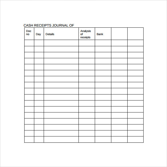 simple cash receipt template