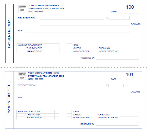 in full payments receipts templates .
