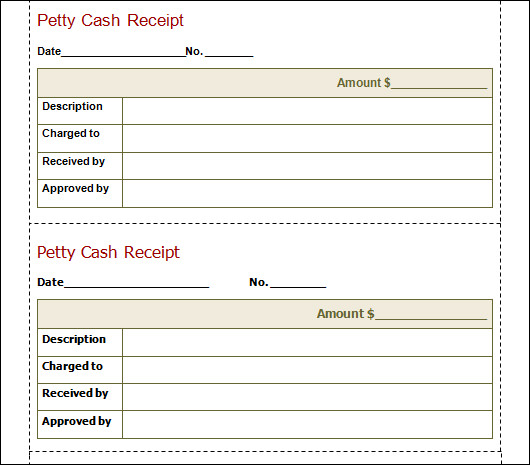 Cash Slip Templates