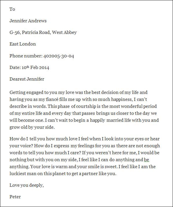Romantic Love Letters Sample Romantic Love Letters