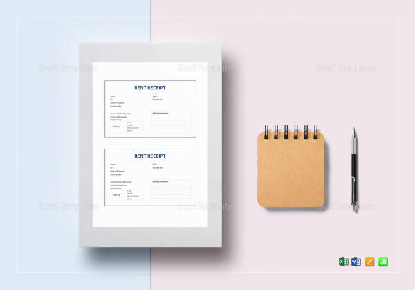 sample rent receipt template