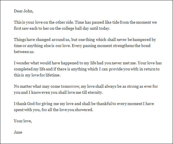 Sample Romantic Love Letter   Documents In Word