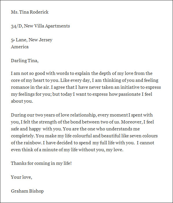 Sample Romantic Love Letter - 3+ Documents In Word