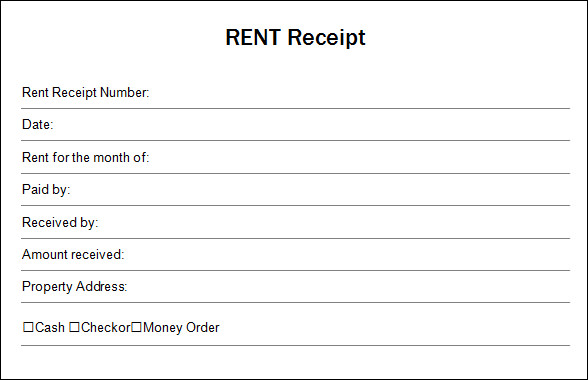 13 Blank Receipt Template Sample Templates