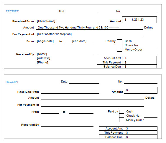cash receipt form details file format