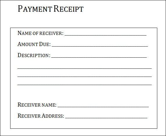 Lease Receipt Template Sample Rent Receipt Template 12 – Sample Reciept