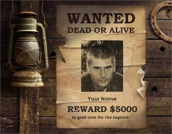 digital wanted poster template