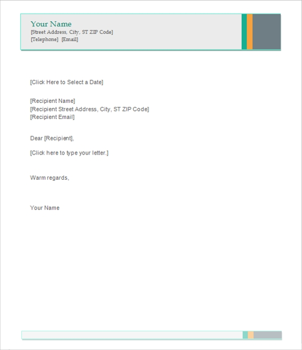 Professional Letterhead Template  Free Letterhead Templates Download