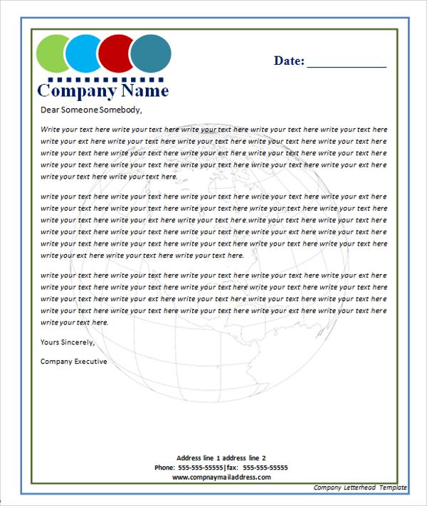 Letterhead template novasatfm letterhead template spiritdancerdesigns Images
