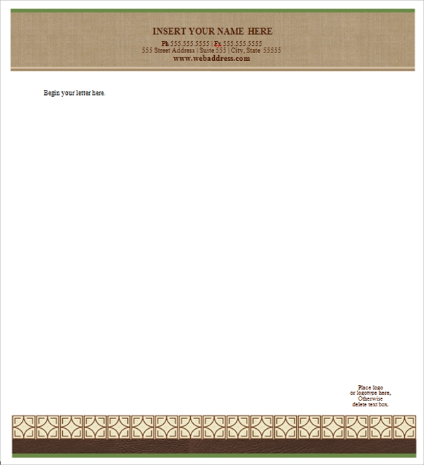 Sample Letterhead Template   Free Documents In Pdf Psd Word