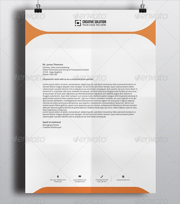 Sample Letterhead Template 42 Free Documents in PDF PSD Word – Letterhead Template