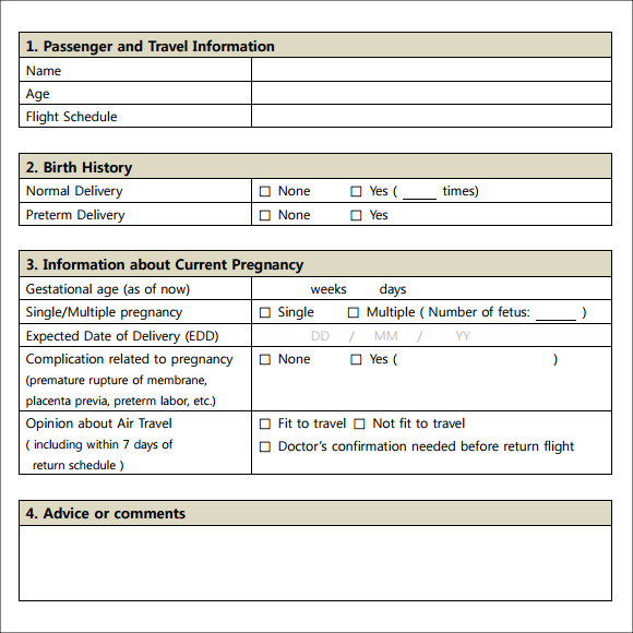 Sample Doctor Note   Free Documents In Pdf Word