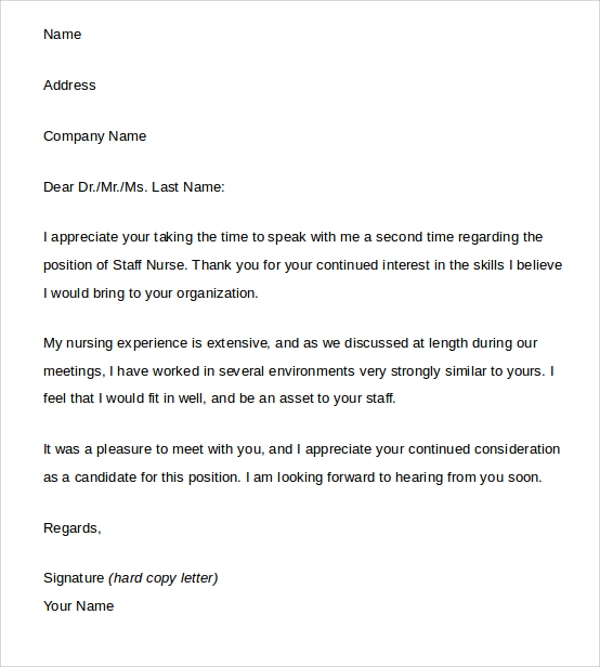 Sample Thank You Letter After Interview   Free Documents In