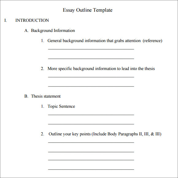 Basic informative essay outline
