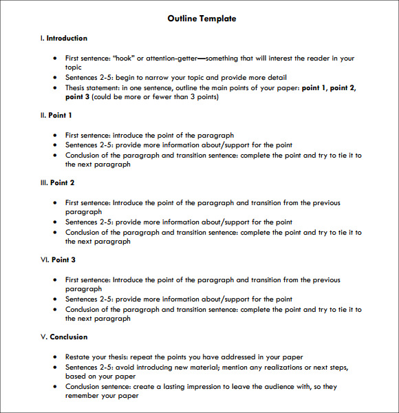 18 Useful Outline Templates Pdf Word Apple Pages