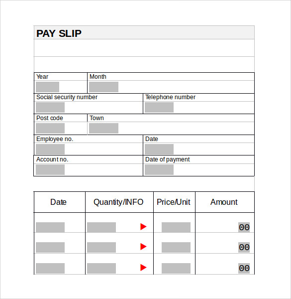 sample pay stub template free .