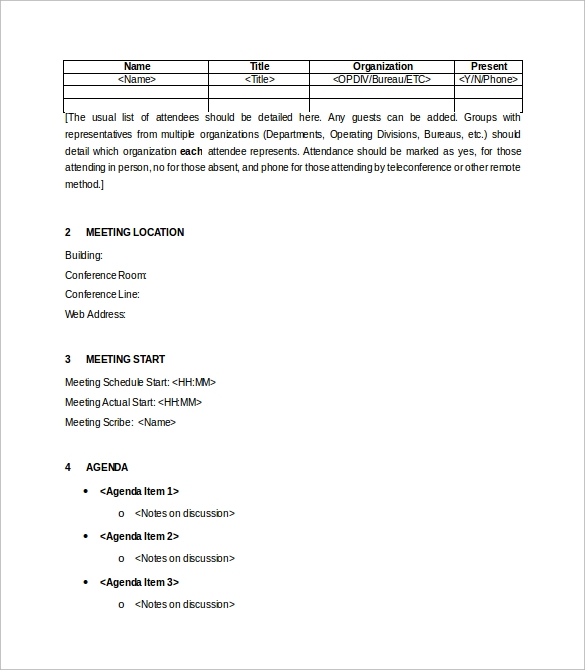 Meeting Summary Template Meeting Summary Format Sample Meeting
