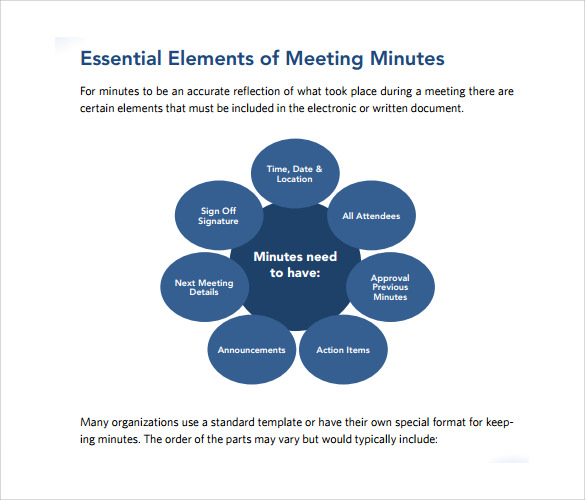 42  free sample meeting minutes templates