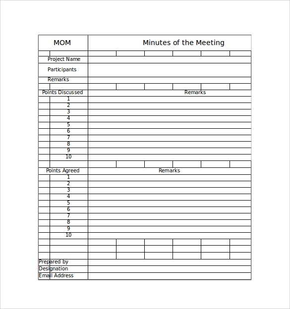 Attractive Excel Meeting Minutes Template Within Free Sample Minutes Of Meeting Template