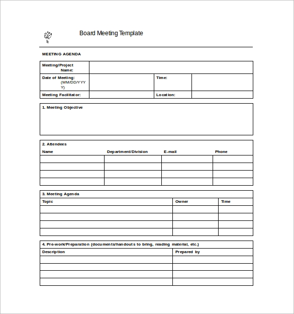 Meeting Minutes Templates Free