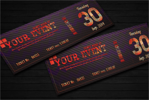 Elegant Event Ticket PSD