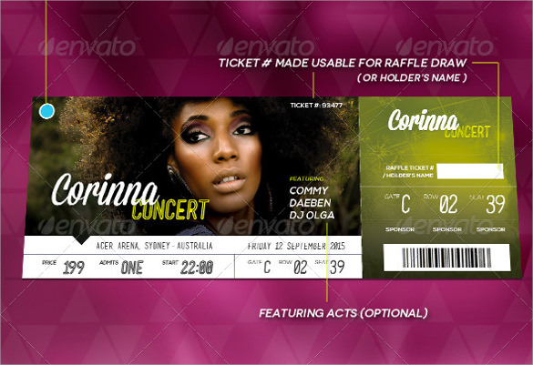 event ticket template psd free download