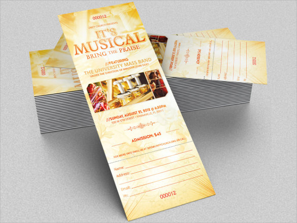 Musical Concert Ticket Template
