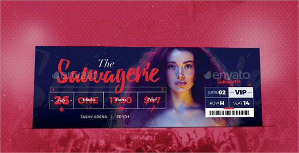 ticket template photoshop