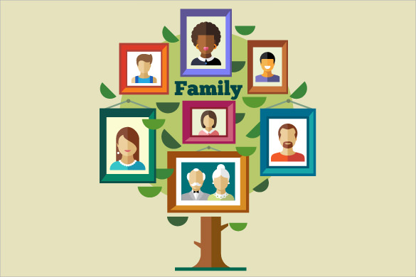 blank family tree with siblings