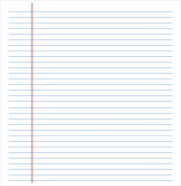 Lined Paper Template   12  Download Free Documents in PDF Word eGfzxsBX