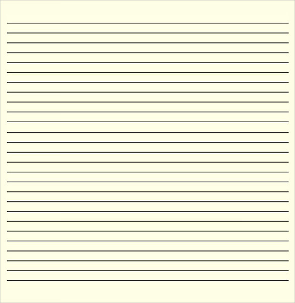 Lined Writing Paper  Download Lined Paper