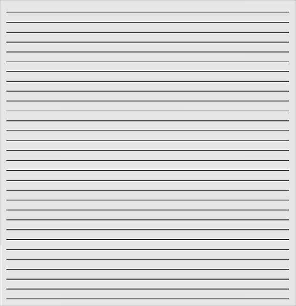 Template For Lined Paper  Download Lined Paper